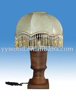 wooden lamp or lighting