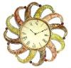 Flower Type Design Beautiful Decorative Wall Metal Clock