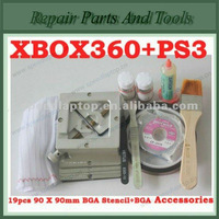 19pcs 90*90mm BGA Stencils+BGA Reballing Station+Solder Ball+Solder Flux+BGA Accessories	For XBOX360 and PS3 Reballing Kit
