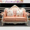 French style furniture livingroom peach leather sofa set ALD-Q-902