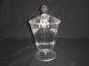 glass sugar pot(E1009)glass canister,glass jar