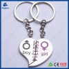 Loving heart couple key chains for valentine's gift