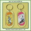 advertising and decoration key chain plastic