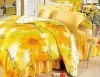wealth flowers pattern design peach skin printed brushed 4pieces bedding sets