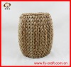 Cheap hand-woven round seat stool,cushion round stool