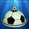 Ceramic butter dish football design