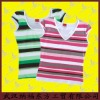 Newest Women Lycra T shirt With Stripes