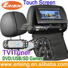"Erisin ES556 7"" Digital Touchscreen Car Headrest Monitor with TV"