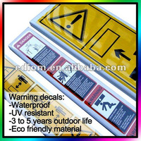 Custom Caution Sign - Screen print - Outdoor life 5 years (WD-12009)