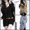 Sale hot 100%cotton lady jacket