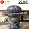 Outdoor water fountain rotating granite ball fountain