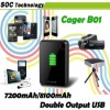Factory price 7200/8100mAh capacity Cager B01 mobile power bank digital device battery charger for MP3 MP4 MP5 phone tablet pc