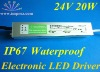 AC90-250V Input 24V/20W Output IP67 Waterproof 20W Led Driver