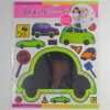 aluminized cartoon car mirror sticker