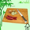 Square Bamboo Cutting Board with groove and hole handle