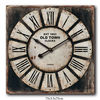 Retro Shabby Wood Roman Numbers Clock for Wall Decor