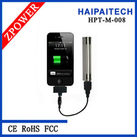 instant external charger with 18650 battery & stainless steel cover