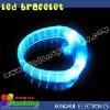 adjustable light up flashing pvc bracelet with led inside