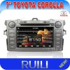 2012 New 3D Menu 7'' Touch Screen In Dash 2 Din Car DVD Player for Toyota Collora With Stereo car Audio Bluetooth Radio Ipod