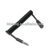 3.5mm stereo audio male to female Coiled cable