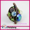 Fashion ring with flower