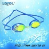 Racing swim goggle with silver mirror