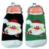 Christmas sock design plush coin bag for promotional gift