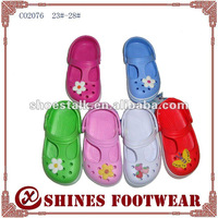 kids eva clogs shoes with charm