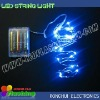 2M 20 Blue lights battery operated led wire light for holiday lighting