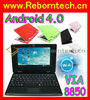 Android 4.0 7 inch via 8850 netbook laptop computer
