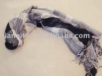 Long Black Silk Scarf