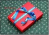 Red oblong paper packaging gift box