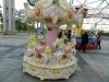 6 mini palace fiberglass kids carousel