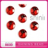 Flat Back Round Shape Acrylic Rhinestone With Two Hole