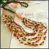 Fashion 3-chain Agate free form bead necklace product for holiday gift