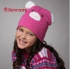 kids winter cashmere-like beanie hat