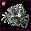 Wholesale Rhodium Plated Silver Crystal Brooch