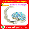 Popular table crystal foldable bag hanger