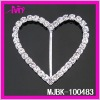 2012 Fashion rhinestone heart buckle for chair sash