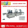 Vodka wine glass bottle linear filling machine