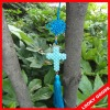 Artificial pearl handcrafted cross pendant