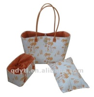 Summer amorous feelings wheat straw beach bag set