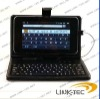 leather case keyboard for 7inch MID Tablet PC