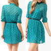 Ruffled Polka Dot Dress,women dress factory