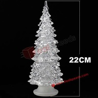 Fresh New Glitter 22 CM Tall Color Changing LED Christmas Tree Lights