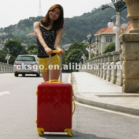 2012 fashion ABS+PC trolley luggage