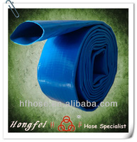 "supply 4"" flexible rolled up pvc layflat discharge hose"