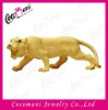 Alluvial gold velvet electroform handcraft animal tiger