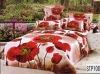 3d screen colorful flower printed bedding set home textile bed sheet set