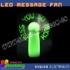 stylish led mini fan with custom message (CE & RoHS approved)